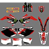 0035 Custom Motorcross Decals Motorcycle Stickers Graphics Kit Decal Kits for Honda CRF250X CRF 250 X 4 STROKES 2004-2012
