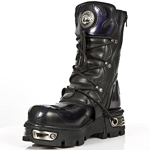 New Rock M.107-S4 Metallic Leather boots Pg59wML7
