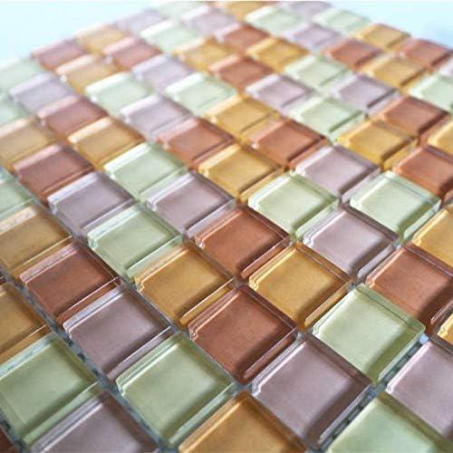 Glasmosaik 2,3x2,3x0,8 cm beige Mix Kristallglas
