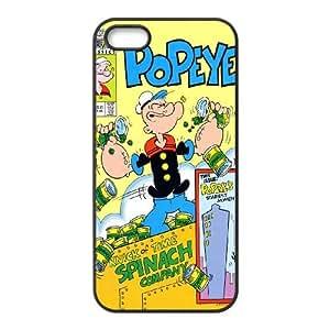 iPhone 5 5s Cell Phone Case Black Popeye the sailor FSI Phone Case For Girls Custom
