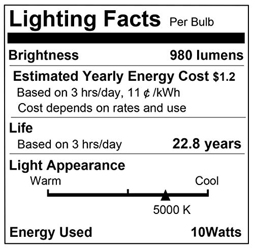 Smart Light Bulbs, LOHAS BR30 LED WiFi Light Bulb Dimmable Daylight 5000K, 980LM, Compatible with Alexa Google Home Assistant, E26 10W Equivalent 75W BR30 Flood Light for Cans, No Hub Required, 2Pack