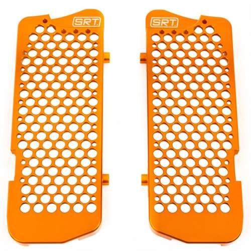 Ktm Radiator Guards (SRT Pro-Armor Aluminum Radiator Guards KTM Husaberg - Orange SRT00116)