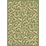 Cheap Safavieh Courtyard Collection CY2653-1E06 Olive and Natural Indoor/Outdoor Area Rug (4′ x 5'7″)