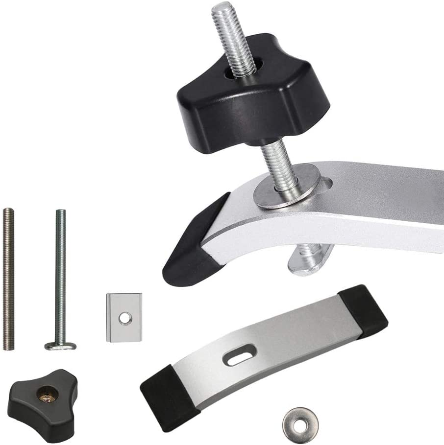 T Track Clamp Platen Set Metal Quick Acting Hold Down Clamp T-Slot T-Track Clamping Kit Wood Working Tool