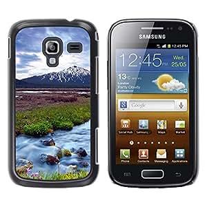 Caucho caso de Shell duro de la cubierta de accesorios de protección BY RAYDREAMMM - Samsung Galaxy Ace 2 I8160 Ace II X S7560M - Nature Beautiful Forrest Green 63