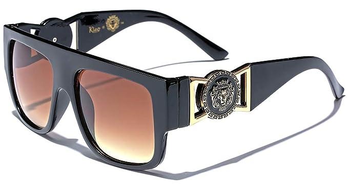 aaaa1f4c062 Kleo Flat Top Aviator Gold Buckle Hip Hop Rapper DJ Celebrity Sunglasses