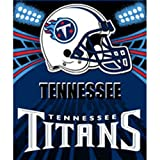 "Tennessee Titans Light Weight Fleece NFL Blanket (Shadow Series) (50""x60"")"
