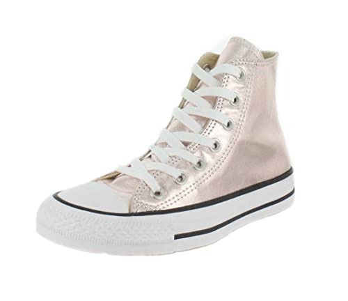 8c3c02ae26aa Converse Unisex Chuck Taylor All Star Metallic Canvas High Top Sneaker Rose  Quartz 9 B(M) US  Buy Online at Low Prices in India - Amazon.in