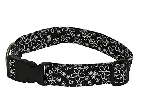 Elmo's Closet Etched Daisies Dog Collar - Extra ()