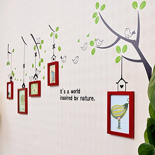 wall photo frames Photo Wall, Small Frame Wall, Combination Creative Baby Photo Wall, Sticker Frame Wall (Color : 4#) by Collage picture frame