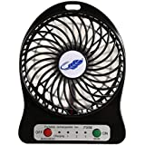 eshion Mini USB Rechargeable Fan with Battery 18650Li-ion and Flash Light, for Fishing,Camping,Hiking,Baby Stroller,Picnic,Boating
