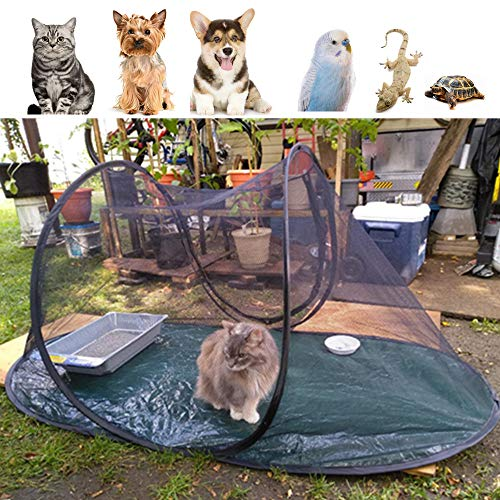 Orgrimmar Cat Dog Playpen Portable Pet House Exercise Tent Fold Pet Camping Tent Cage for Birds Parrot Small Animal…