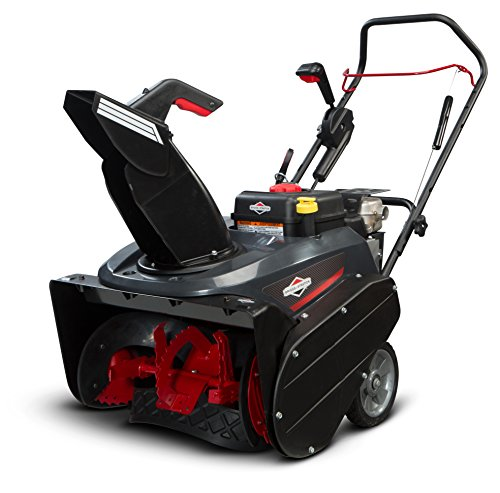 Briggs & Stratton 1696506 Single Stage Snow Thrower with Snow Shredder Technology and Electric Start, 22-Inch by Briggs & Stratton
