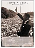 (24 x 36) Martin Luther King I Have a Dream Framed Poster - Quality Silver Aluminum Frame