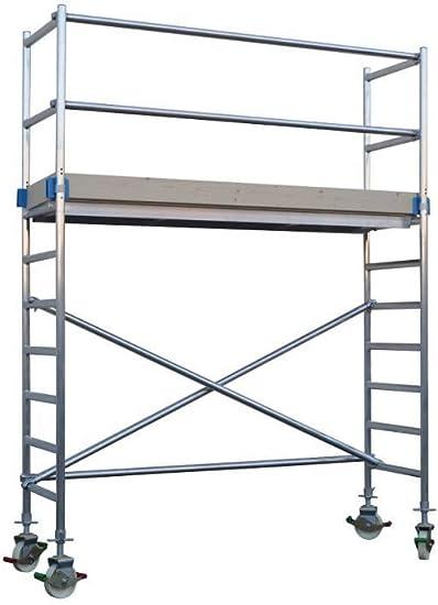 Andamio aluminio Torre PRO 75X250 - altura de trabajo 4.2 m: Amazon.es: Bricolaje y herramientas