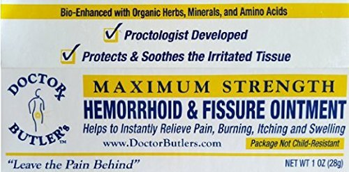 Hemorrhoid Care (Doctor Butler's Hemorrhoid & Fissure Ointment...FDA Approved Relief & Healing Formula (also contains Organic Herbs, Minerals and Amino Acids))
