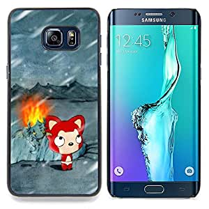 - Cute Winter Cat/ Hard Snap On Cell Phone Case Cover - Cao - For Samsung Galaxy S6 Edge Plus