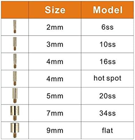 Strass Hot-fix Applicator Ensemble complet DIY Strass Applicateur Kit avec 7 embouts diff/érents Kit de nettoyage Pinces /à /épiler Hotfix Applicateur de strass thermocollants Kit