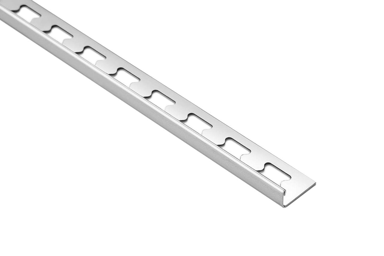 2 Meter HEXIM Edelstahl HEX100 SP 10mm Fliesenschiene L-Form