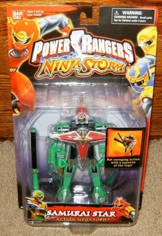 Amazon.com: Power Rangers Samurai Ninja Storm Star Figura de ...