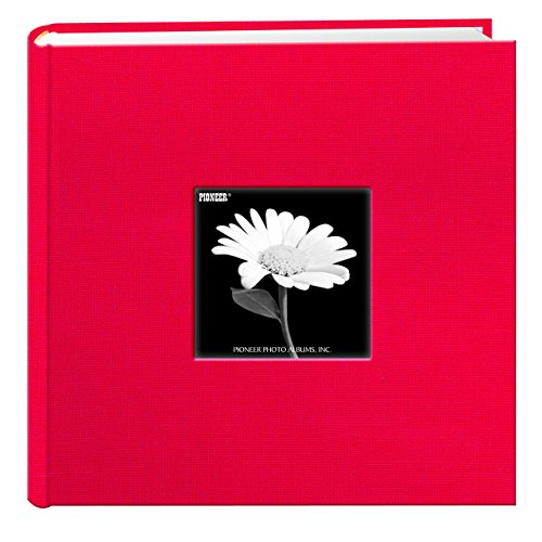 fabric-frame-cover-photo-album-200-pockets-hold-4x6-photos-apple-red