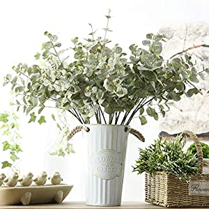 Artificial Plants - Green Artificial Leaf Decorative Eucalyptus Leave Simulation Plants Wedding Party Home Decor Fake - Rectangle Ivy 20 Desk Bamboo Tabletop Table Cheap Sale Fern 1