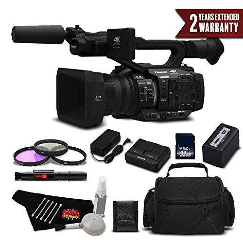 Panasonic AG-UX180 4K Premium Professional Camcorder International Version (No Warranty) Standard Plus Warranty - Panasonic Sdhc Class 6