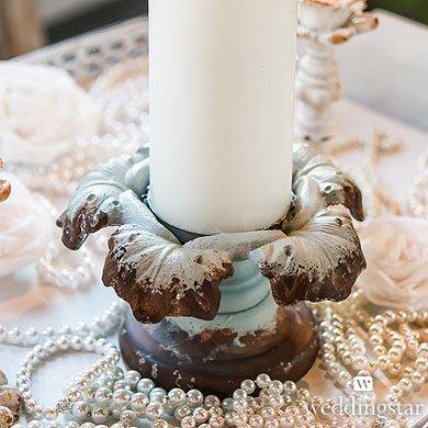 Vintage Inspired Iron Pillar Candle Holder
