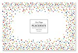 Faux Designs Paper Placemats - Confetti