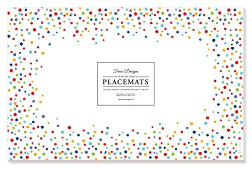 - Faux Designs Paper Placemats - Confetti