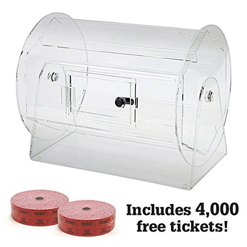 Medium Acrylic Raffle Drum w/4,000 Free Tickets by Midway Monsters
