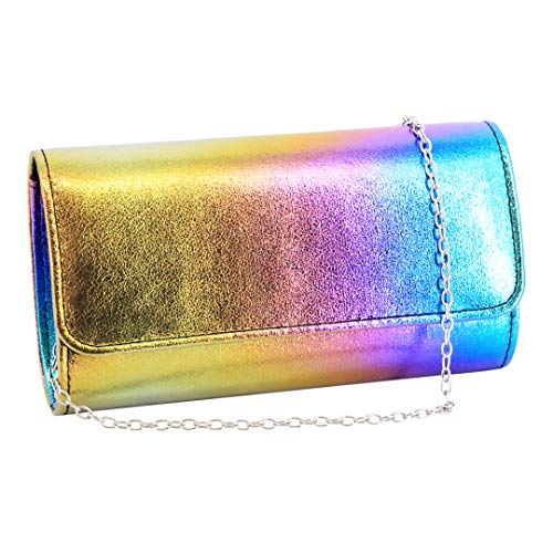 (Naimo Womens Shiny Glaze Shoulder Envelope Evening Purse Wedding Party Clutch Bag)