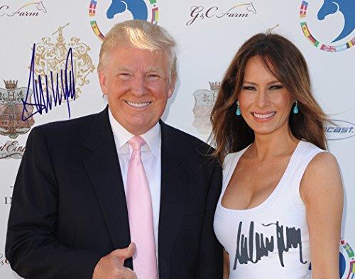 Donald Trump and Melania Trump Autographed Preprint #4