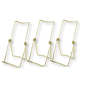 Gold Easels \u2013 Set of 3 Adjustable Display Easels \u2013 Brass Iron Metal Stands with Flexible  sc 1 st  Amazon.com & Amazon.com: Gold Easels \u2013 Set of 3 Adjustable Display Easels \u2013 Brass ...