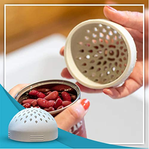 Micro Kitchen Colander Silicone Filter Drain Cover Can Drainer for Strain Tea Leaves, Lemon Seeds, Kidney Beans, Used to Quickly Drain and Contain Food (white)