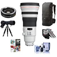 Canon EF 400mm f/2.8L IS II USM Image Stabilizer Super Telephoto Lens, USA Warranty - Bundle with Backpack, Calibration System, LensCoat RainCoat Pro, Kenko AF Teleconverter, Software Pack and More