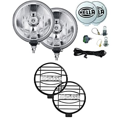 HELLA 12-Volt/55-Watt Halogen Driving Lamp Kit with Protective Grille Cover