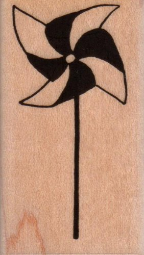 Pinwheel Wood Mounted Rubber Stamp (648D)