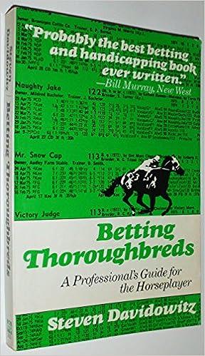 Davidowitz betting thoroughbreds nfl football betting statistics
