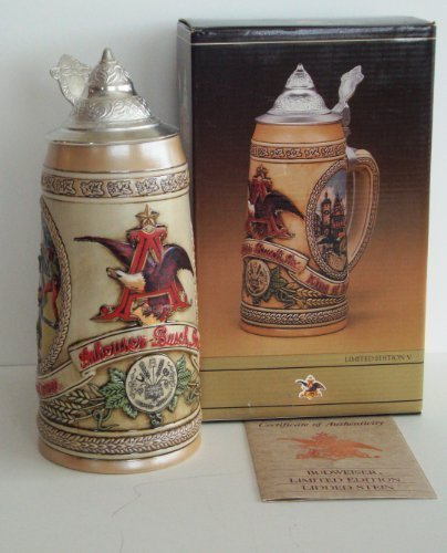 1989 Budweiser Collectable Limited Edition V Stein; Bavarian Festival Scenes by (Scene Stein)