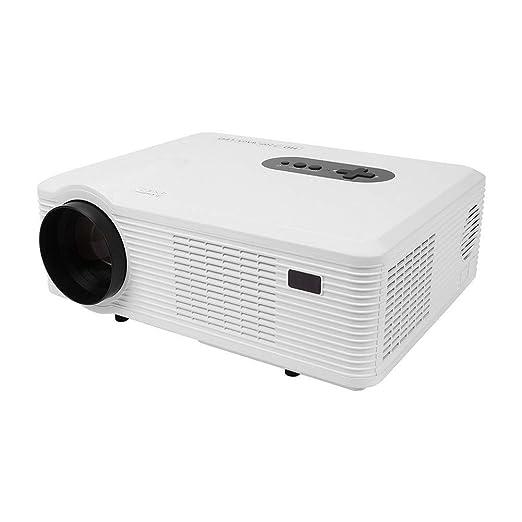 Proyector, Proyector LED Full HD Portátil, TV/VGA/AV/USB ...