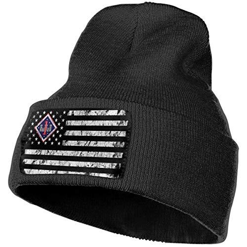 Xoshysowppp 1st Marine Division 1st Combat Engineer Battalion Black Unisex Mens Womens Beanie ()