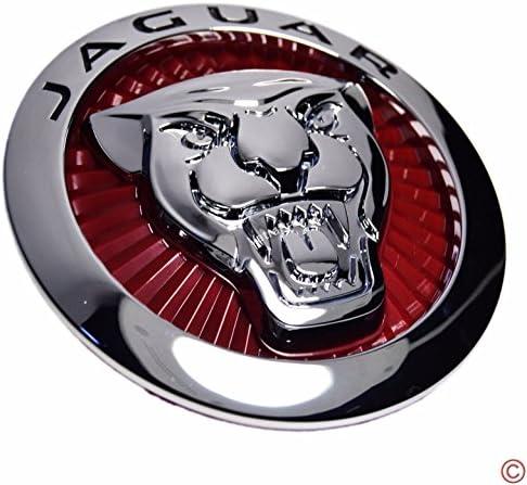 N//A 56mm Red Growler Jaguar Wheel Centre Cap Emblems Tin Badge adesivi x4