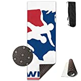 Yoga Mat US Wrestling Sign Decorate Yoga Towel Workout Mat NonSlip Easy Clean