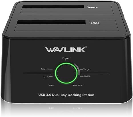 wavlink USB 3.0 A SATA (5Gbps) Dual-Bay estación de Acoplamiento ...