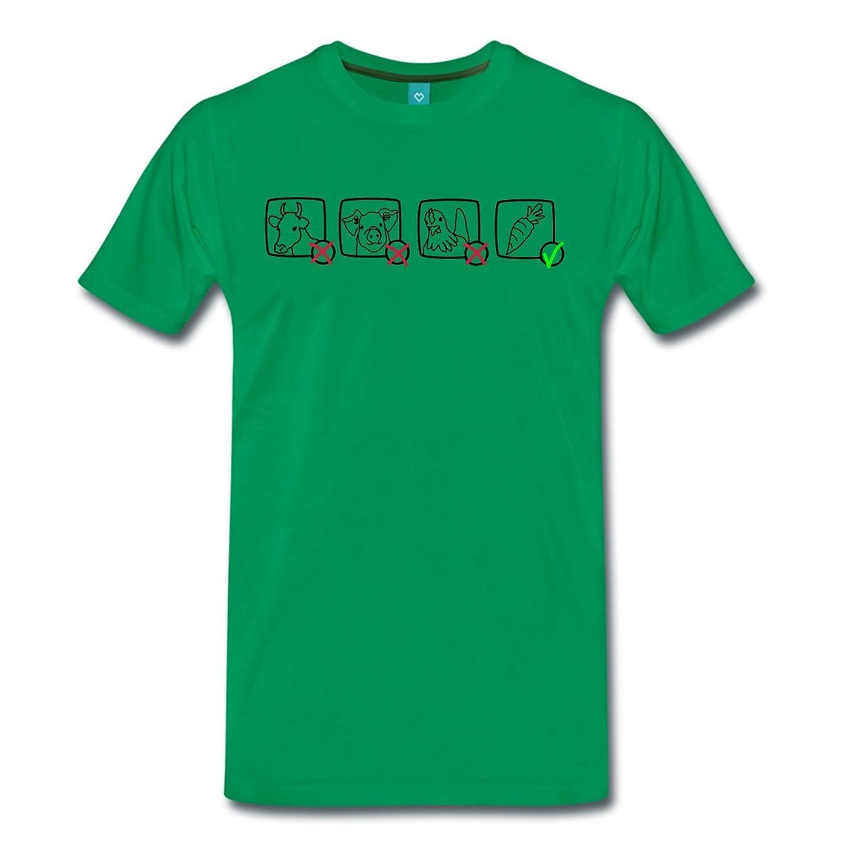 Veganism Animals No Vegetables Yes Men's Premium T-Shirt by Spreadshirt??