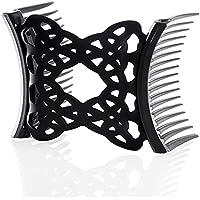 Qiekenao Dubbla glider hårkammar, enkel kam elastisk hårkam elastisk hårklämma elastiskt hårspänne dubbelglid damkam dam…