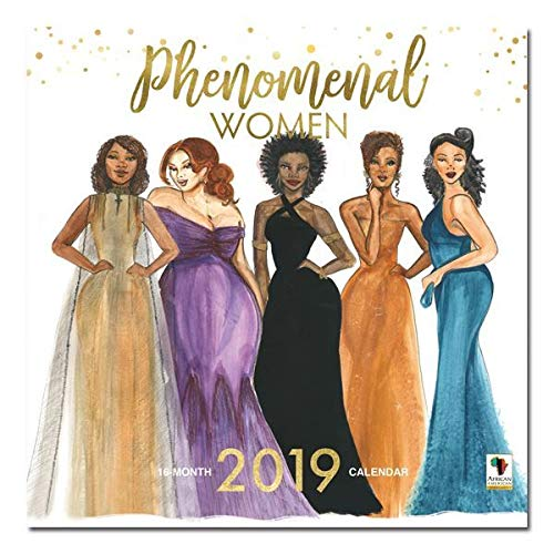 "Office Products : African American Expressions - 2019 Phenomenal Women 12 Month Calendar (12"" x 12"") WC-173"