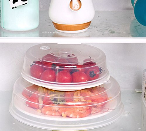 Gotian Clear Microwave Food Cover Plate Vented Splatter Protector Kitchen Lid Safe Vent (E: 23235.5cm)