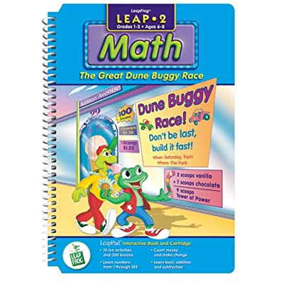 None LeapPad: Leap 2 Math - The Great Dune Buggy Race Interactive Book and Cartridge: Office Products
